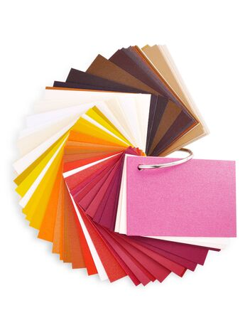 layout of colored paper on a white background Stock Photo - 7607894