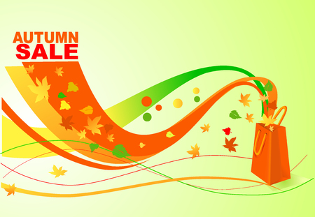 red retail: autumn sale in the store