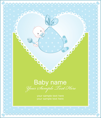 childishness: greeting the birth of a boy with a heart