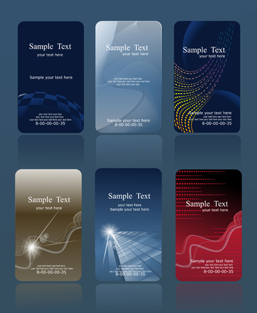 hojas membretadas: conjunto de tarjetas de vector vertical