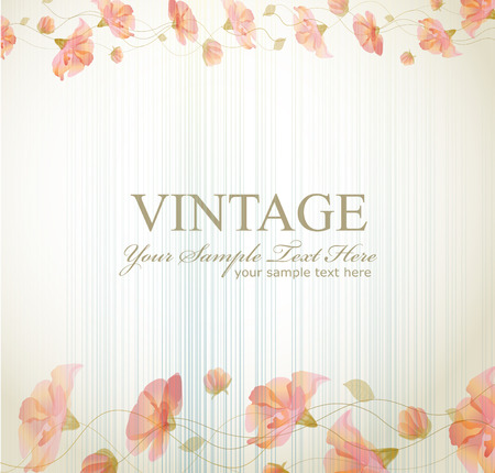 vector vintage background with flowers Stock Vector - 8984520
