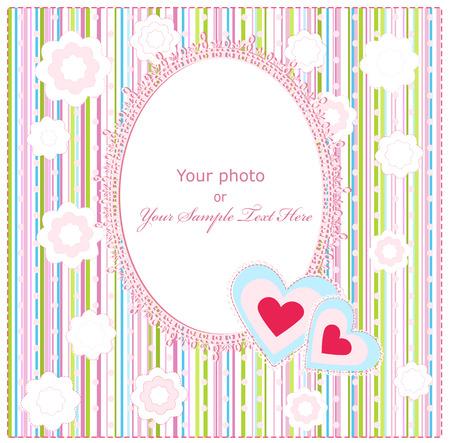 Baby Arrivée carte avec Photo Frame