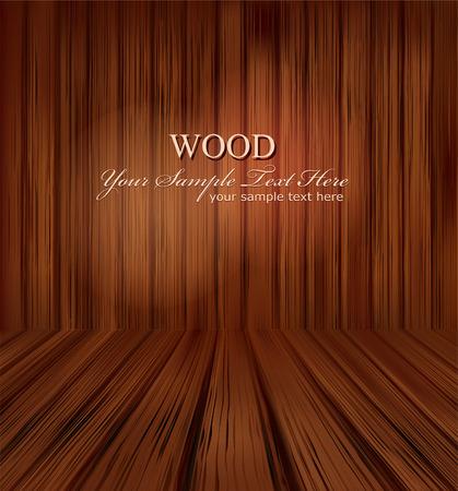 vector wooden planks interior with Illuminated