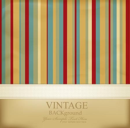 sfondo strisce: Vintage sfondo astratto a righe