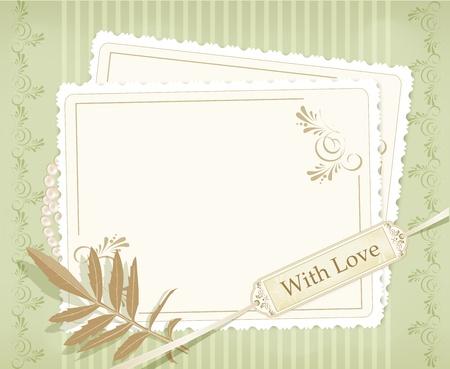 wedding photo frame: Congratulazione vector retr� background
