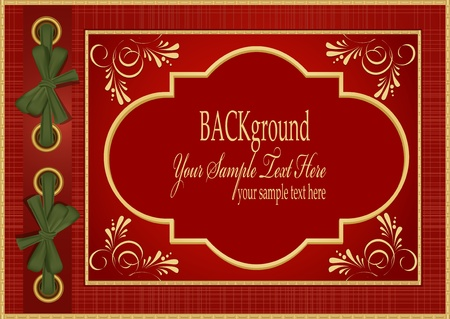 Vector red with gold pattern album for your photos Vector