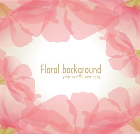 Vector gentle background of pink flower petals Vector