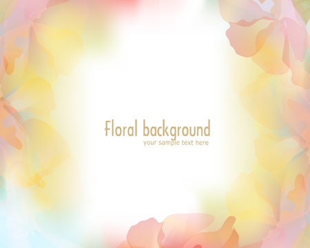 vector background with a delicate flower petals Illustration