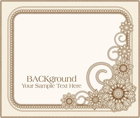 victorian border: vector frame with floral patterns Illustration