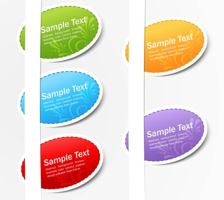 vector set of colored stickers Stock Vector - 9324482