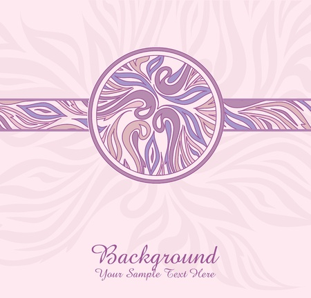 vector pink abstract background with ornaments Stock Vector - 9410355