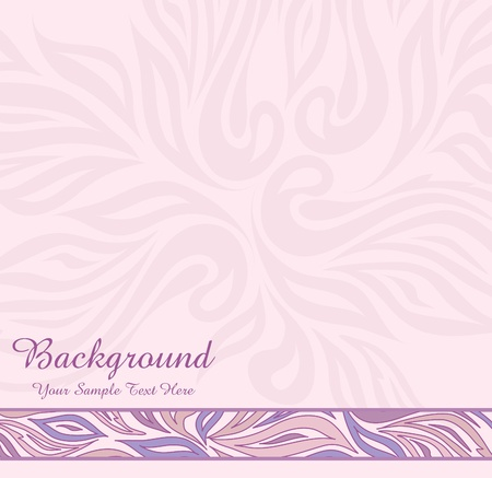 vector pink abstract background with ornaments Stock Vector - 9410353