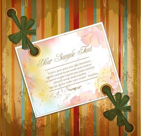 vector grunge background with floral greeting cards and ribbons