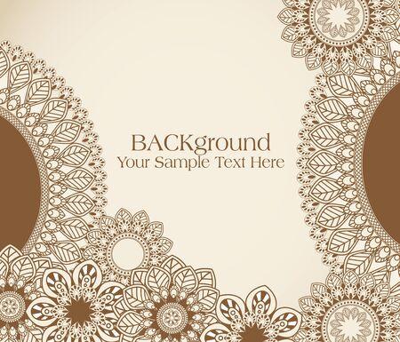 henna design: patr�n de flores abstracta mano de vectores
