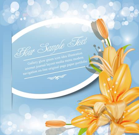 fresh flowers: holiday abstract vector background with  flowers Illustration