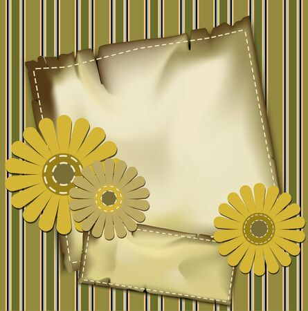 vintage background with congratulatory flowers and stripes Stock Vector - 9616575