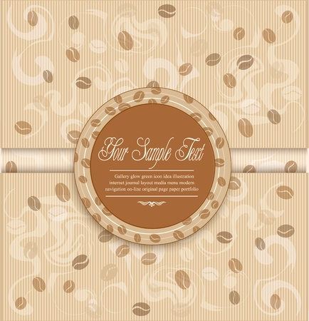 background with coffee and Label Stock Vector - 9616592