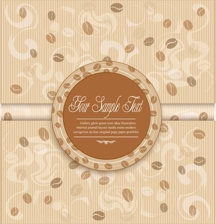Hintergrund mit Kaffee und Label