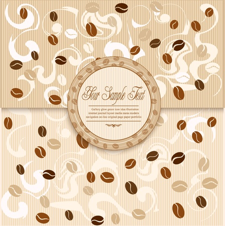 background with coffee and Label Vector