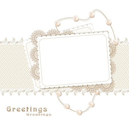 congratulation retro background with ribbons,pearls,bow
