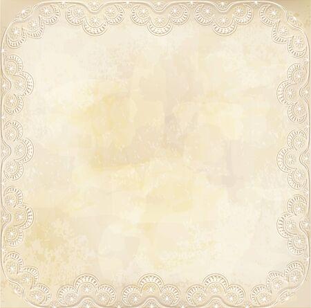 vintage, grunge background with lace border