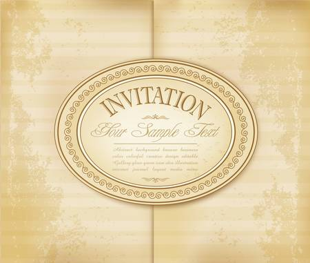 grungy background: vintage antique invitation to a faded paper. grungy background