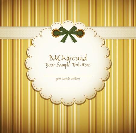christmas crown: tarjeta de felicitaci�n sobre fondo beige con lazo