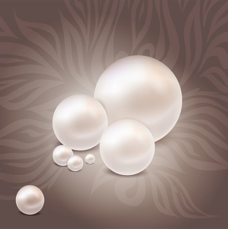 pearls: luxurious pearl background with patterns Illustration