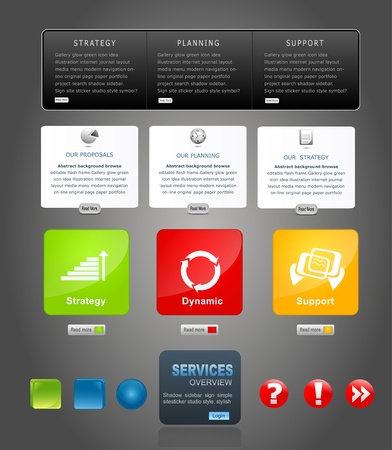 rectangle button: vector elements web design
