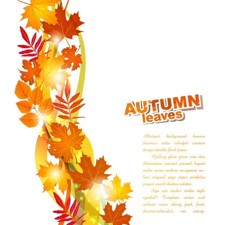 background with autumn leaves Stock Vector - 10292286