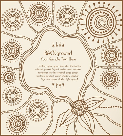 australian ethnicity: ethnic background card Illustration