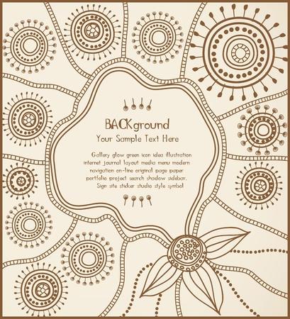 ilustraciones africanas: tarjeta de origen �tnico