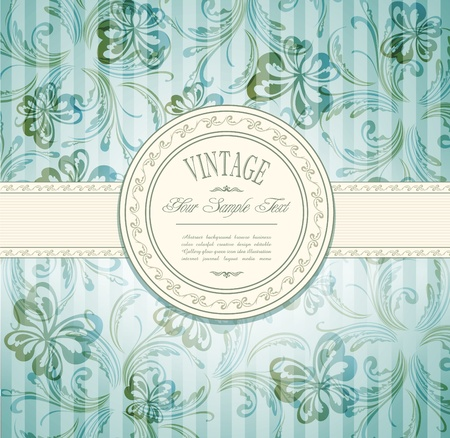 wedding frame: Elegant vintage invitation