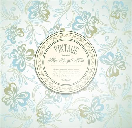 Elegant vintage invitation Vector