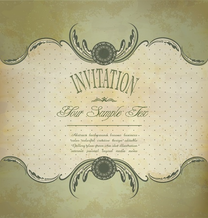 Grunge vintage invitation Stock Vector - 10356249