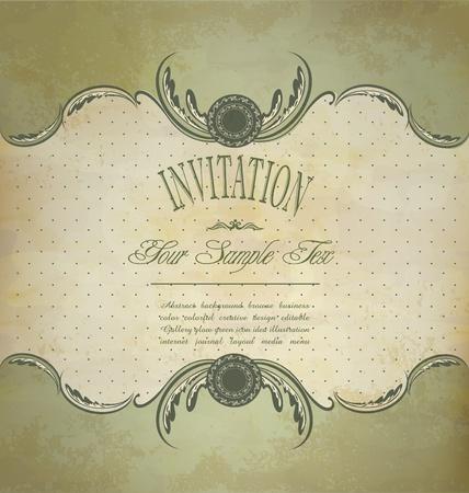 old fashioned: Grunge vintage invitation