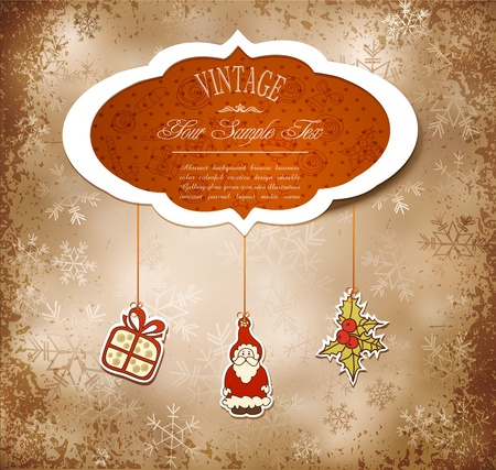 hanging toy: Vintage, grungy New Year, Christmas background