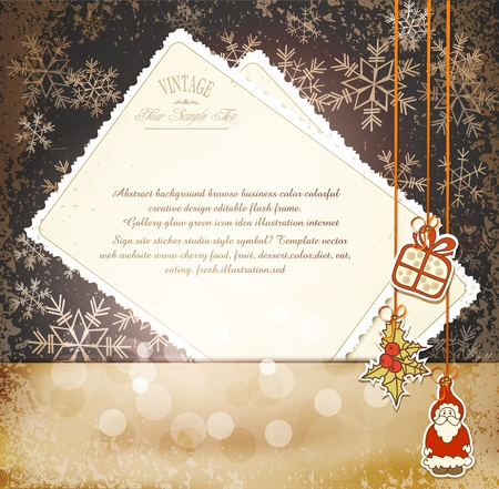 Vintage, grungy New Year, Christmas background Stock Vector - 10422045