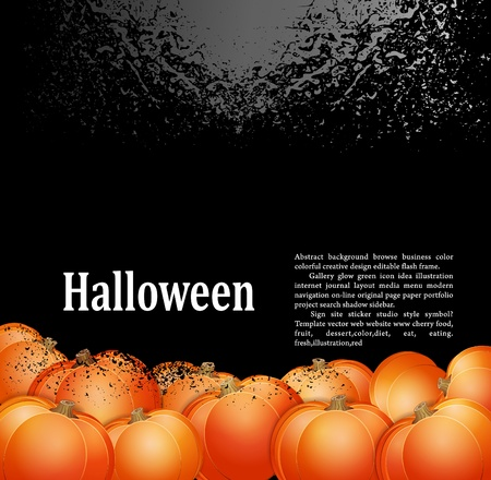 harvest moon: Grunge background for holiday Halloween with pumpkins