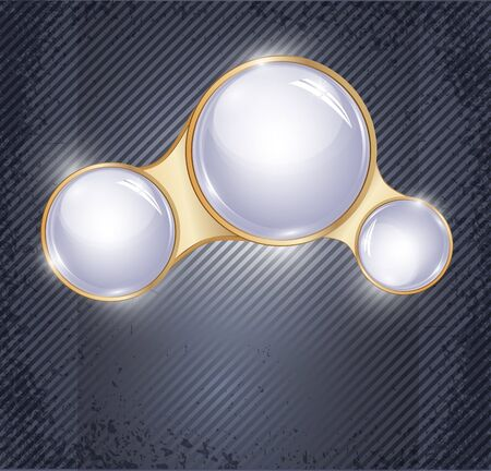 abstract background with three glass balls Stock Vector - 10548084