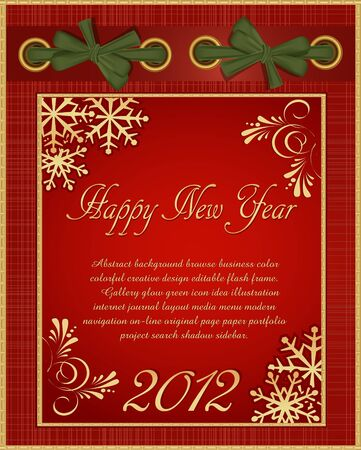 red Christmas album in 2012 Stock Vector - 10548083