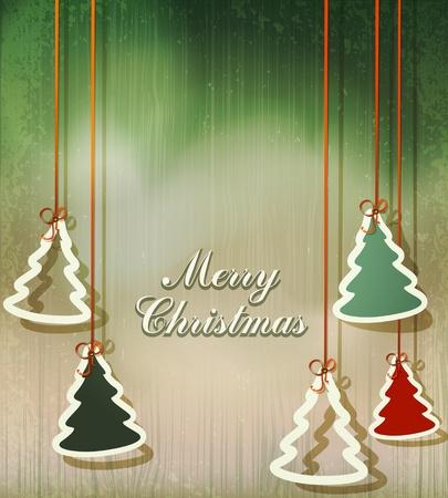 Neujahr Hintergrund mit hängenden Fischgrätmuster Vektorgrafik