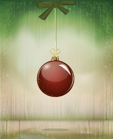 vector grungy vintage Christmas, a holiday background Vector