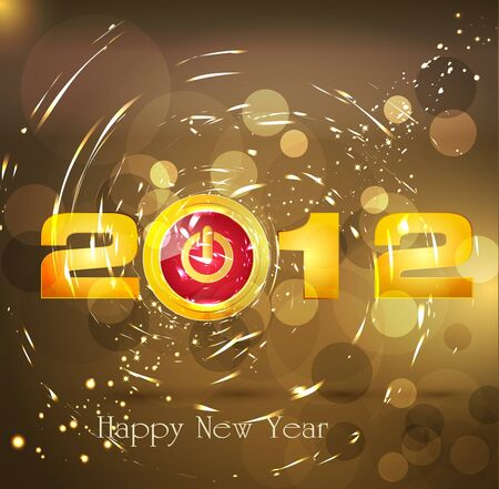 Abstract background New Year, with a button  Vector