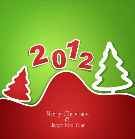 Holiday Christmas background Stock Vector - 10996090