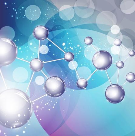 fizika: Absztrakt háttér molekulákkal