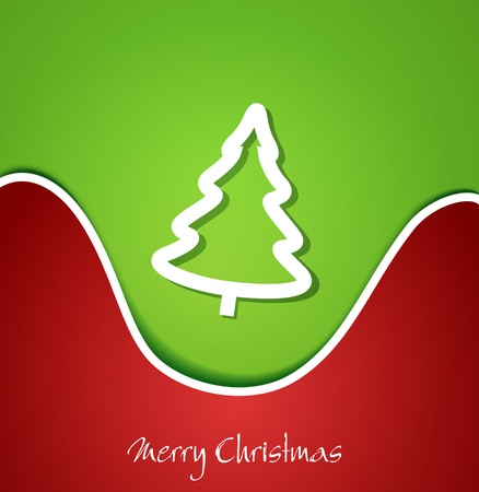 Festive Christmas background with Christmas tree Vector
