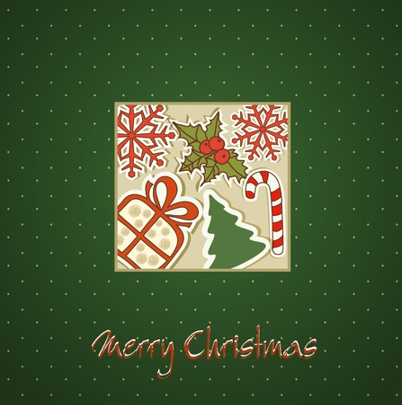 Christmas holiday background with Christmas toys Vector