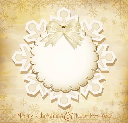 vector vintage Christmas background with snowflakes Vector