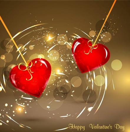 festive background for Valentine Vector